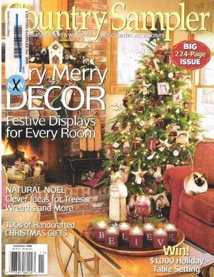 Country Sampler / Very Merry Decor / November   Magazine (2008)