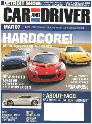 Car and Driver / Hardcore! - Sports Cars for the Track / March | Magazine (2007)