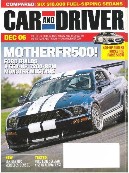 Car and Driver / MotherFR500! / December   Magazine (2006)