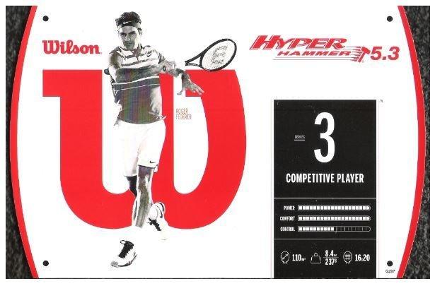 Federer, Roger / Wilson Hyper Hammer 5.3 | Promo Cards (2016)