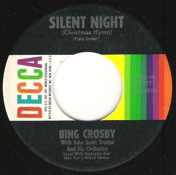 Crosby, Bing / Silent Night (Christmas Hymn) / Decca 9-23777 | Seven Inch Vinyl Single (1950)