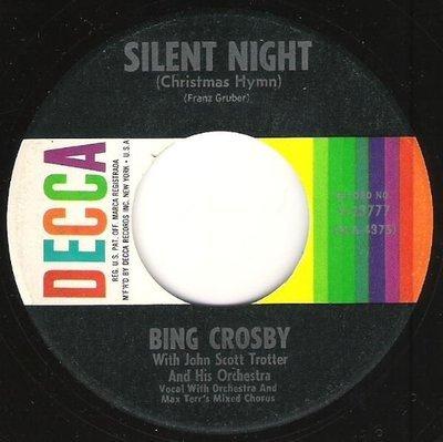 Crosby, Bing / Silent Night (Christmas Hymn) / Decca 9-23777   Seven Inch Vinyl Single (1950)