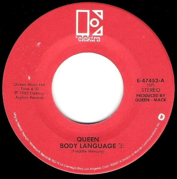 Queen / Body Language / Elektra E-47452 | Seven Inch Vinyl Single (1982)