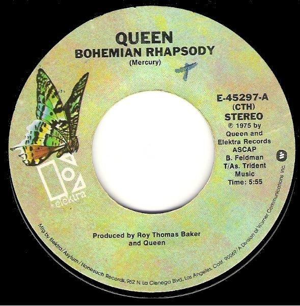 Queen / Bohemian Rhapsody / Elektra E-45297 | Seven Inch Vinyl Single (1975)
