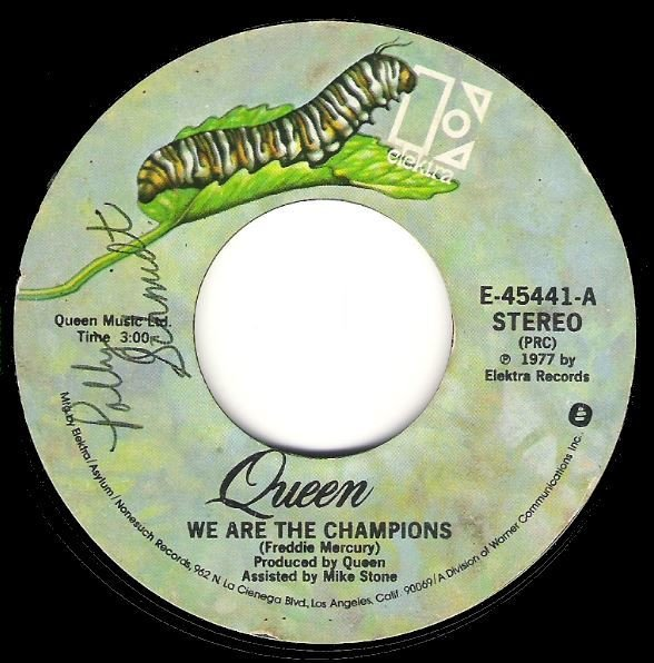 Queen / We Are the Champions / Elektra E-45441 | Seven Inch Vinyl Single (1977)