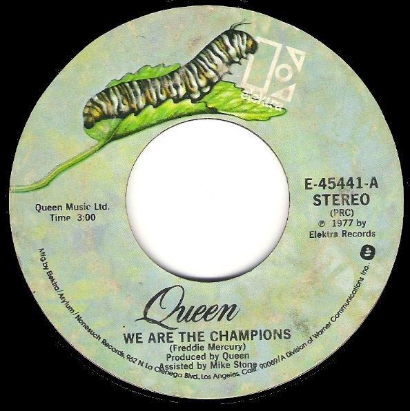 Queen / We Are the Champions / Elektra E-45441 | Seven Inch Vinyl Single (1977)