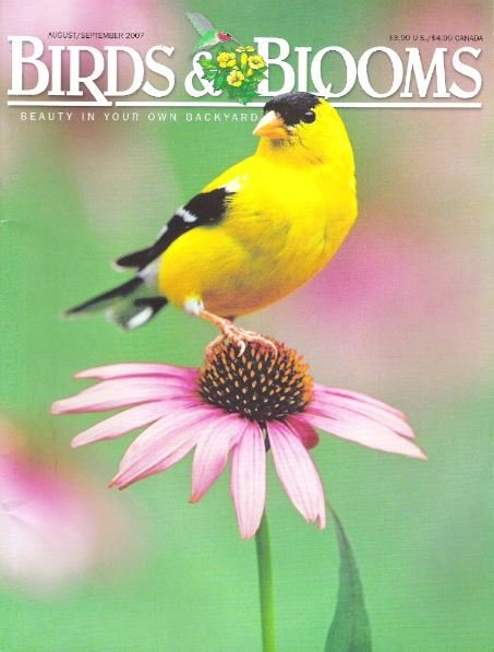 Birds + Blooms / American Goldfinch / August - September | Magazine (2007)