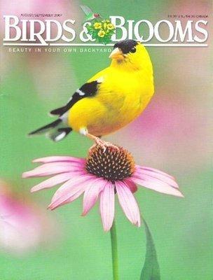 Birds + Blooms / American Goldfinch / August - September | Magazine (2007)