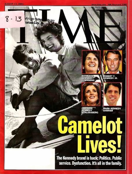 Time / Camelot Lives! - The Kennedys / August 13, 2001 | Magazine (2001)