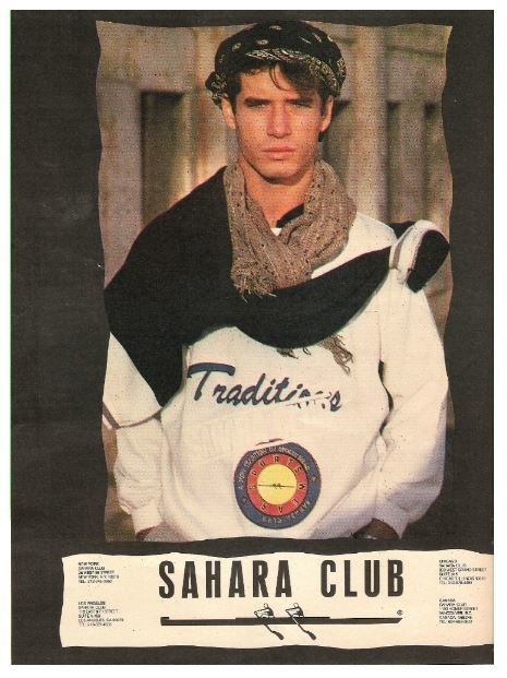 Sahara Club / A New Tradition in Sports Wear | Magazine Ad (1987)
