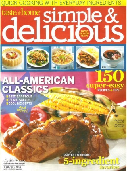 Simple + Delicious / All-American Classics / June - July | Magazine (2010)
