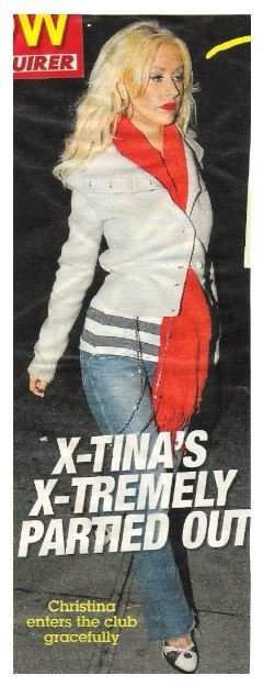 Aguilera, Christina / X-Tina's X-Tremely Partied Out | Magazine Photo with Caption (2006)