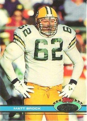 Brock, Matt / Green Bay Packers / Stadium Club (Topps) No. 421   Football Trading Card (1991)