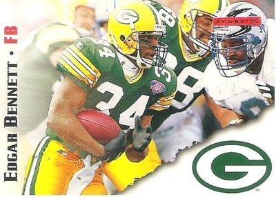 Bennett, Edgar / Green Bay Packers / Score No. 68   Football Trading Card (1995)