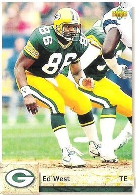West, Ed / Green Bay Packers / Upper Deck No. 446 | Football Trading Card (1992)
