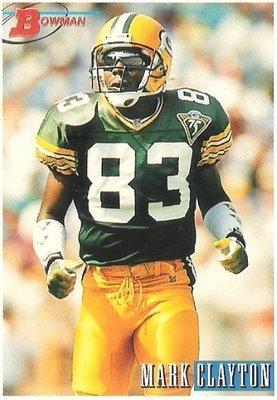 Clayton, Mark / Green Bay Packers / Bowman No. 214   Football Trading Card (1993)