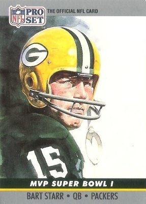 Starr, Bart / Green Bay Packers / Pro Set No. 1 | Football Trading Card (1990) / Hall of Famer