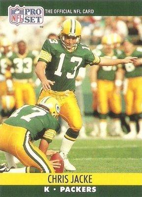 Jacke, Chris / Green Bay Packers / Pro Set No. 801   Football Trading Card (1990)