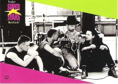 U2 / ProSet SuperStars MusiCards #106 | Music Trading Card (1991)