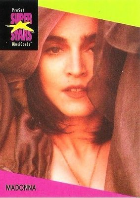 Madonna / ProSet SuperStars MusiCards #68 | Music Trading Card (1991)
