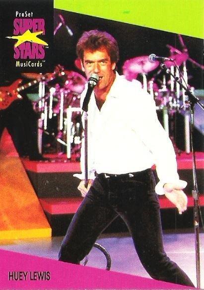 Lewis, Huey / ProSet SuperStars MusiCards #63   Music Trading Card (1991)