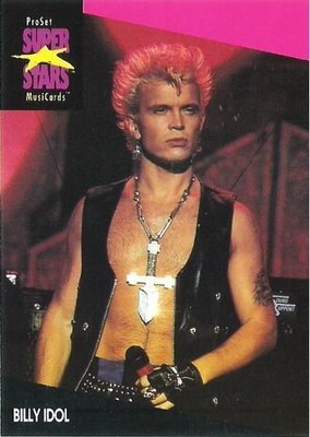 Idol, Billy / ProSet SuperStars MusiCards #187 | Music Trading Card (1991)