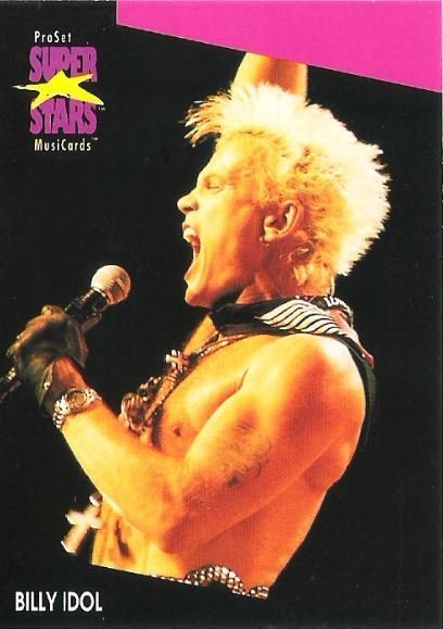 Idol, Billy / ProSet SuperStars MusiCards #189 | Music Trading Card (1991)