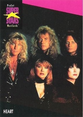 Heart / ProSet SuperStars MusiCards #183 | Music Trading Card (1991)