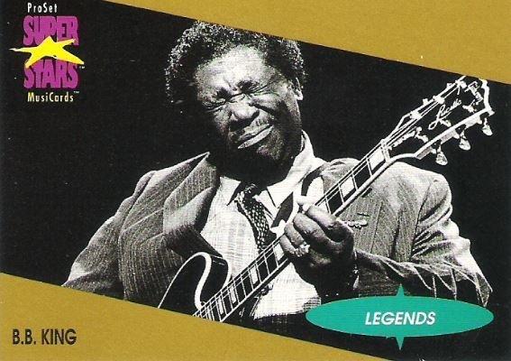 King, B.B. / ProSet SuperStars MusiCards #14 / Legends   Music Trading Card (1991)