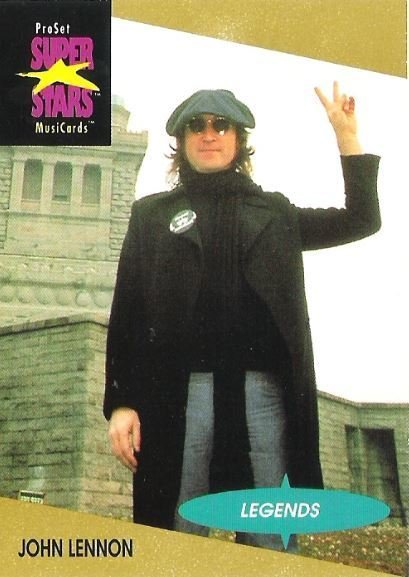 Lennon, John / ProSet SuperStars MusiCards #15 / Legends | Music Trading Card (1991)