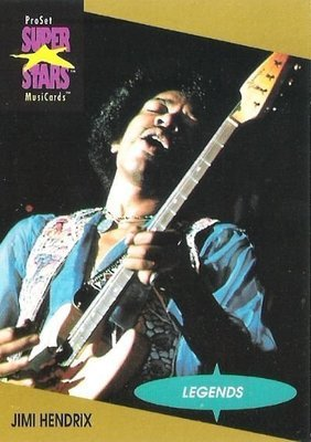 Hendrix, Jimi / ProSet SuperStars MusiCards #10 / Legends | Music Trading Card (1991)