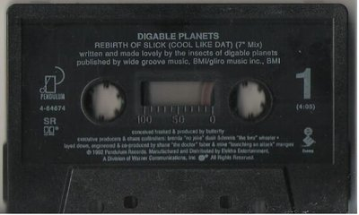 Digable Planets / Rebirth of Slick / Pendulum 4-64674 | Cassette Single (1992)