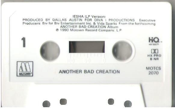 Another Bad Creation / Iesha / Motown MOTCS-2070   Cassette Single (1990)