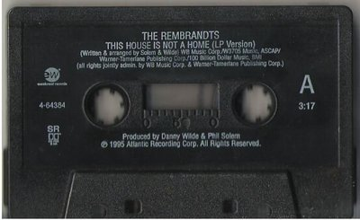 Rembrandts, The / This House Is Not a Home / EastWest 4-64384 | Cassette Single (1995)