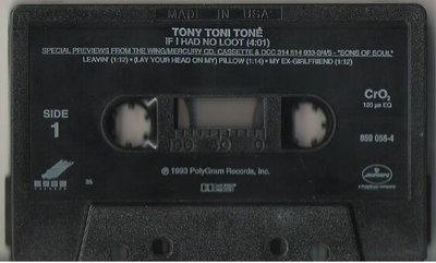 Tony Toni Tone / If I Had No Loot / Wing 859 056-4 | Cassette Single (1993)