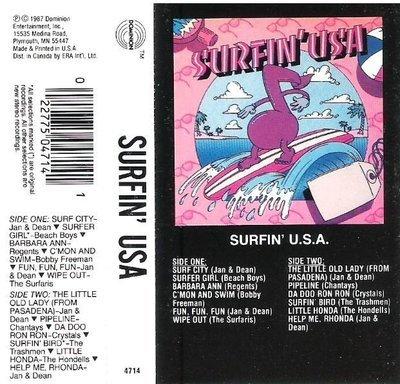 Various Artists / Surfin' U.S.A. / Dominion 4714 | Cassette Insert (1987)