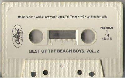 Beach Boys, The / Best of The Beach Boys, Vol. 2 / Capitol 4N-16318 | Cassette (1967)