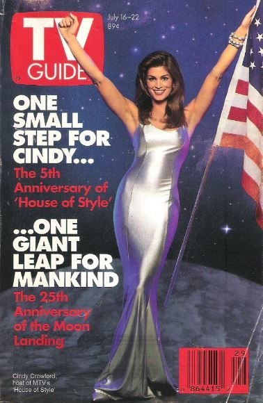 TV Guide / Cindy Crawford / One Small Step for Cindy / July 16 | Magazine (1994)