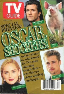 TV Guide / Mel Gibson + Others - Oscar Shockers! / March 23, 1996 | Magazine