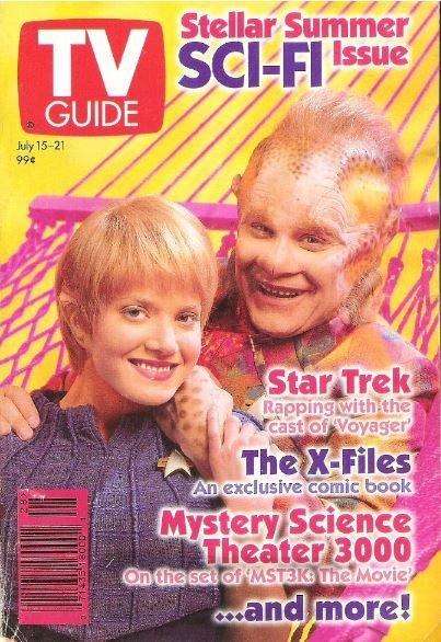 TV Guide / Ethan Phillips + Jennifer Lien - Stellar Summer Sci-Fi Issue / July 15 | Magazine (1995)