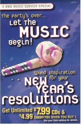 BMG Music Service / New Year's Resolutions | Catalog (1994)