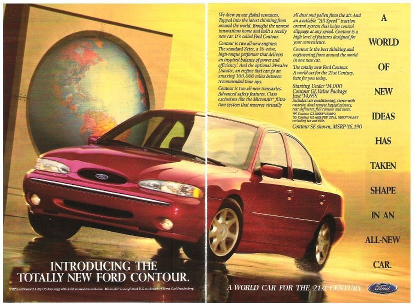 Ford Contour / Introducing the Totally New Ford Contour | Magazine Ad (1994)
