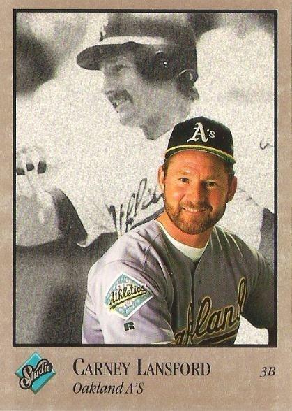 Lansford Carney Oakland Athletics Studio No 225 Baseball Trading Card 1992
