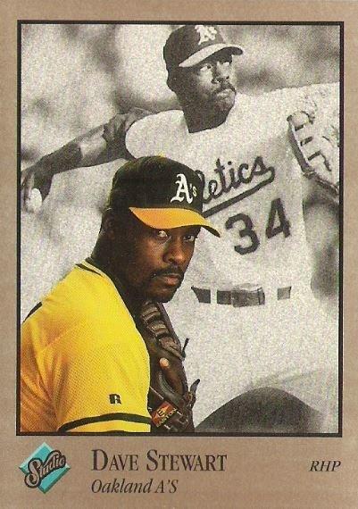 Stewart Dave Oakland Athletics Studio No 230 Baseball Trading Card 1992