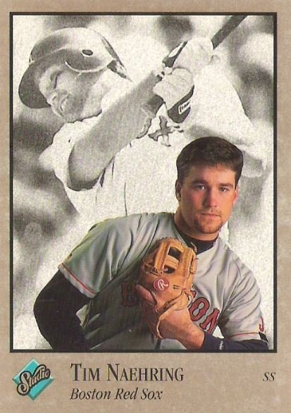 Naehring Tim Boston Red Sox Studio No 134 Baseball Trading Card 1992