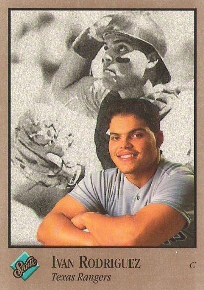 Rodriguez Ivan Texas Rangers Studio No 246 Baseball Trading Card 1992 Hall Of Famer