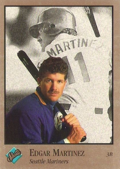 Martinez Edgar Seattle Mariners Studio No 235 Baseball Trading Card 1992 Hall Of Famer