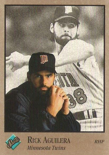 Aguilera, Rick / Minnesota Twins / Studio No. 201 | Baseball Trading Card (1992)
