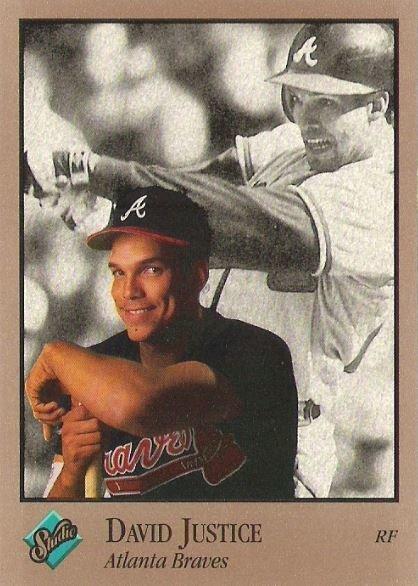 Justice, David / Atlanta Braves / Studio No. 5 | Baseball Trading Card (1992)