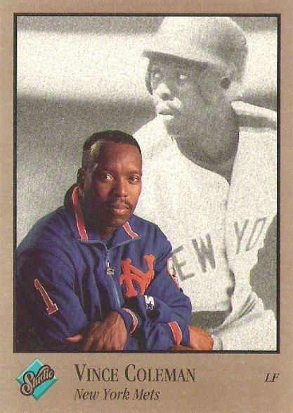 Coleman, Vince / New York Mets / Studio No. 63 | Baseball Trading Card (1992)